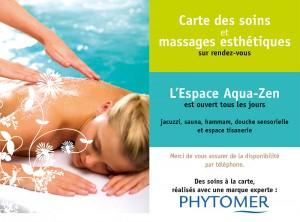 Nouvelle carte des soins au Spa de Baden avec la marque Phytomer
